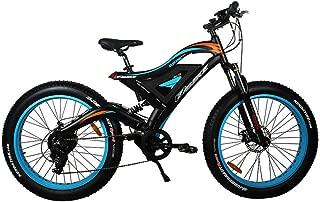 Qnlly Electric Bike 48v 500w Mountain Hybrid ebike Inside 10.4AH Li-on Battery City Fat Tire Road Electric Bicycle