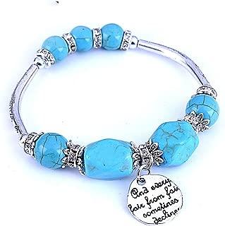 CTRCHUJIAN Women Elastic Zinc Alloy Stone Bracelet Boho Vintage Turquoises Bracelets Pendant Charm Bangle Fashion Jewelry