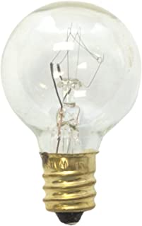 Sival SVLG305E12CLLIST2 Replacement Globe Light Bulb, G30 (Small Size), 5W/130V, E12 Base, Clear, 25 Pack,