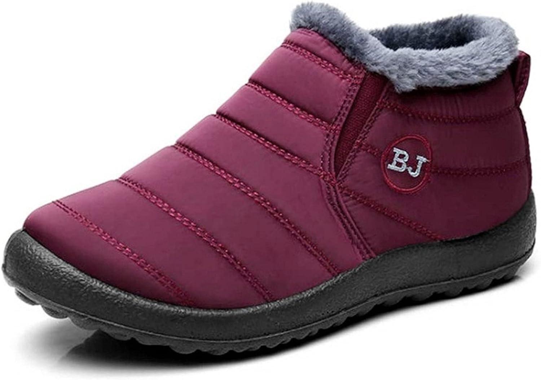 NINESTAR Snowboots for Women and Men Waterproof Cotton Umbrella Cloth Womens Snowboots Winter Cotton Shoes
