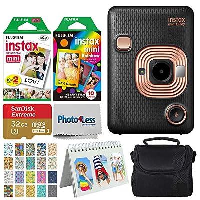 Fujifilm Instax Mini LiPlay Hybrid Instant Camera + Instant Film (20 Shots) + Rainbow Film (10 Shots) + 32GB microSDHC + Case + Scrapbooking Album + 20 Sticker Frames Travel Package from FUJIFILM