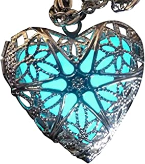 UMBRELLALABORATORY Steampunk Fairy Magical Glow in The Dark Heart Like Custom Made Necklace-Gifts for Teen Girls,Mother, F...