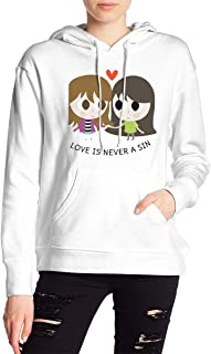 VJJ AIDEAR Lesbian Women's Sweater Printed Hoodied Long Sleeve Coat