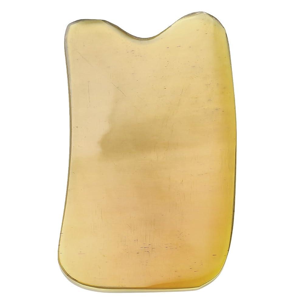人工的な肝混乱させるJovivi Mak カッサリフトプレート 黄色 牛角 パワーストーン カッサ板 美顔 カッサボード カッサマッサージ道具 ギフトバッグを提供 (凹形)