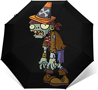 SSI-HAFZ1 Plants Vs.Zombies 2 Pirate Conehead Zombie Fashion Automatic Tri-fold Umbrella for Everybody Outer Print