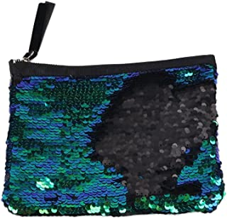 OULII Sparkly Sequin Clutch Bag Handbag Lady Party Evening Clutch Bag Purse Wallet for Women