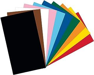 Folia- Lot de 100 Feuilles de Papier cartonné-Format A4-220 g/m² -10 Couleurs Assorties-Base idéale pour de Nombreuses idé...