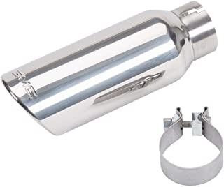 GM # 22799815 Exhaust Tip - Highly Polished with GMC Logo - Dual Wall - Angle Cut