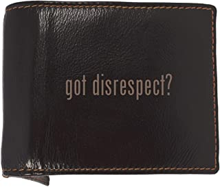 got disrespect? - Soft Cowhide Genuine Engraved Bifold Leather Wallet