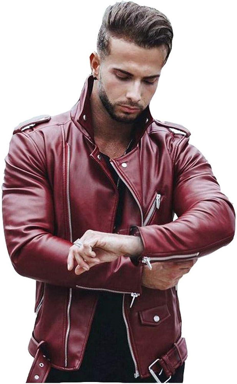 Annhoo Men Jacket,Men's Fashion Splicing Jacket Splicing Zipper