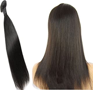 JINREN Brazilian Virgin Hair Straight Human Hair Weave 1 Bundle 18inch Unprocessed Virgin Brazilian Straight Hair Bundles Natural Black