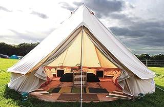 Latourreg pyramid rund klocka tält kanvas yurtält med dragkedja underlakan för familj utomhus camping