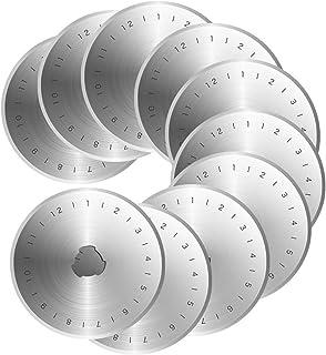 Rosenice Ersatzklingen für Rollschneider, zur Kartengestaltung und für Sammelalben, für Papier, Stoff, Vinyl, 45 mm, 10 Stück