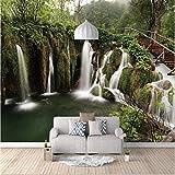 Papel pintado mural imagen 3D Murales personalizados Papel tapiz 3D estéreo Vista de la cascada del...