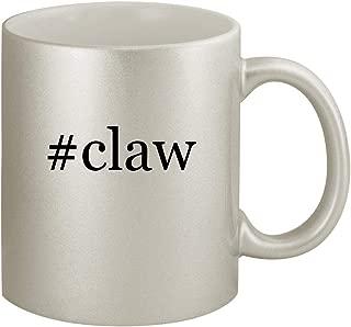 #claw - Ceramic Hashtag 11oz Silver Coffee Mug, Silver