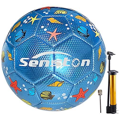 Senston Fußball Ball Größe 3 Wasserdicht Sport Training Fußbälle