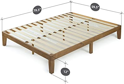 Zinus 12 Inch Solid Wood Platform Bed / No Boxspring needed / Wood Slat Support /