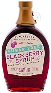 Blackberry Patch, Syrup Whole Blackberry No Sugar Added, 12 Ounce