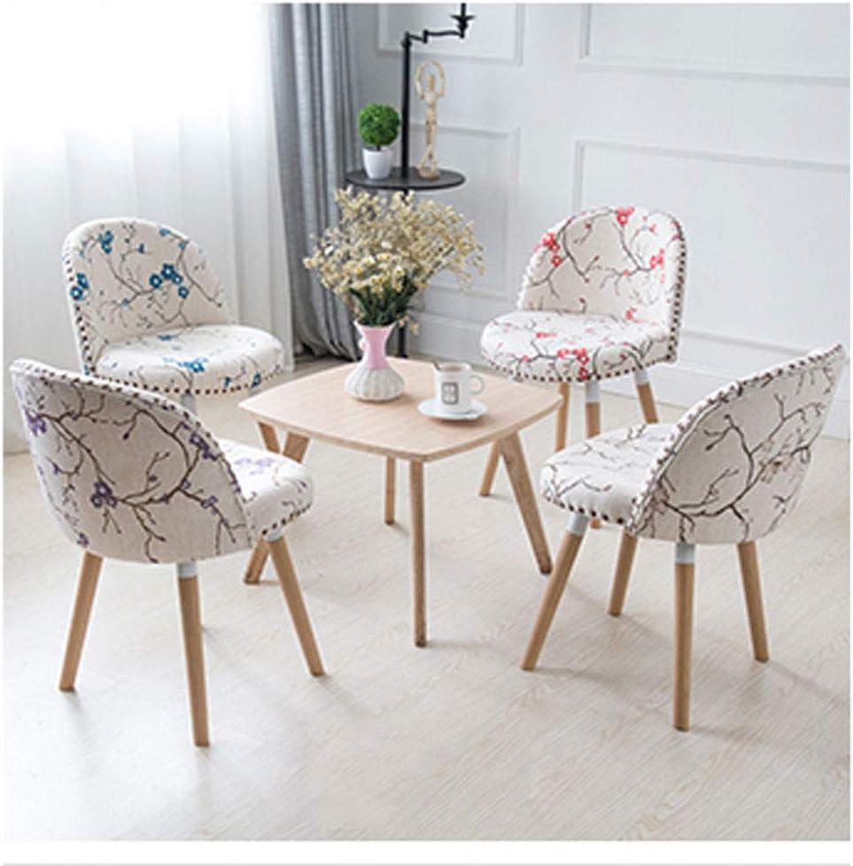 PRIDE S Chaise de salle à manger en bois massif avec chaise de café Chaise simple moderne pour ordinateur portable Accueil Créatif Chaise de salon (Color : D) B