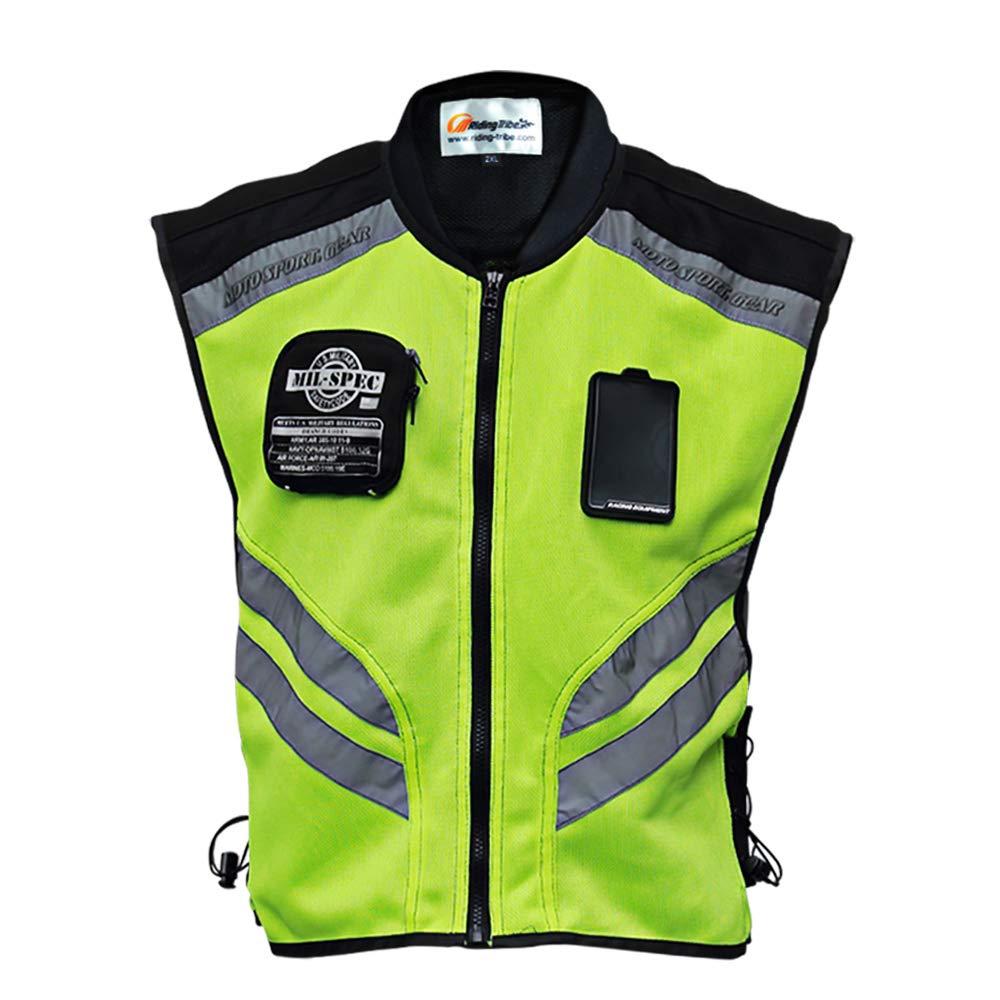 Chaleco reflectante; nuevo diseño; chalecos de seguridad visibles para motocross/carretera/motociclismo/carreras de motos/viajes/paseos nocturnos.: Amazon.es: Coche y moto