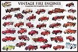 Educational - Bildung - Poster - Vintage Fire Engines