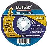 Blue Spot Tools 19670 Disco de corte de metal, negro, 75 mm, 3'-inch