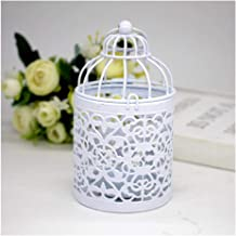 NXYCXXJS 1 X Metal Candlestick Holder Hanging Bird Cage Candles Holder Retro Iron Candlestick Lantern Home Party Decor (Co...