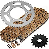 Caltric Golden O-Ring Drive Chain & Sprockets Kit Compatible With Yamaha R6 Yzfr6 Yzf-R6 2003-2005