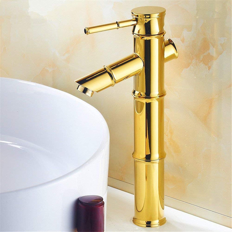 Oudan Faucet gold Faucet, Copper Faucet, Basin Hot and Cold (color   -, Size   -)