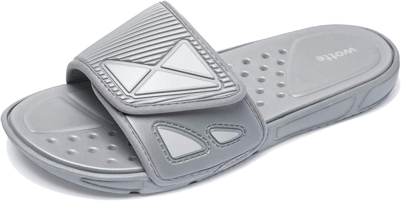 MAINCH Womens Mens Slide Sandals, Adjustable Straps Comfort Lightweight Slippers