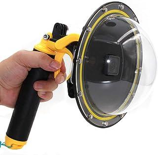 Vicdozia Telesin 6'' Inch Dome Port Lens for GoPro Hero 5/Hero 6/Hero 7/Hero(2018) with Waterproof Housing Case, Floating ...