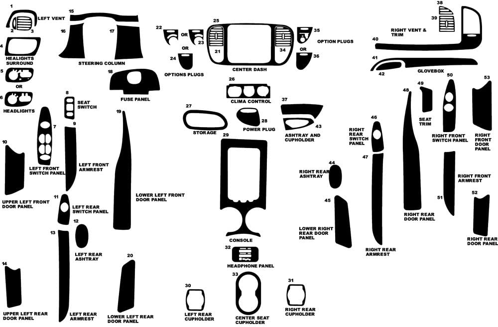 Rvinyl Rdash Max 61% OFF Dash Kit Decal Ford Trim Cheap super special price Compatible with Expedition