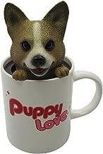 Idea Max Peek-A-Pet Bobble Heads Puppy Love Corgi (Mug)