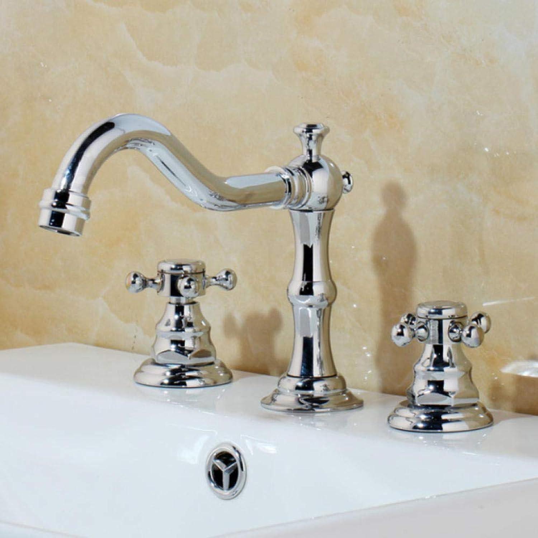 Syhua Antike Messing Chrom Bad Küche Becken Mischbatterie Waschbecken Wasserhahn 2 Griffe 3 stücke Bad Becken Wasserhahn Badewanne Wasserhhne
