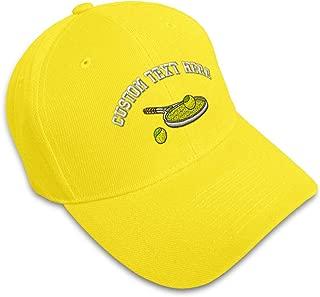 Custom Baseball Cap Tennis Racket Embroidery Acrylic Dad Hats for Men & Women
