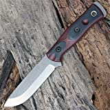 TOPS Knives B.O.B. The Brothers of Bushcraft Fieldcraft B.O.B. Hunter - 154 CM Steel (Red)