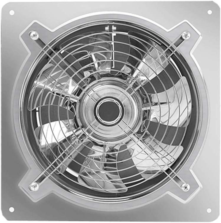 Ventilador de ventilación doméstico Acero Inoxidable Extintor De 12 Pulgadas, Concina Potente Extintor Ventilación Industrial Extractor 300mm LITING