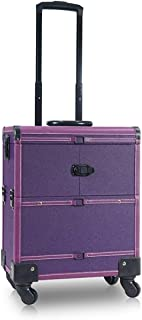 Purple Trolley Cosmetic case Multi-Function Large Capacity Toolbox