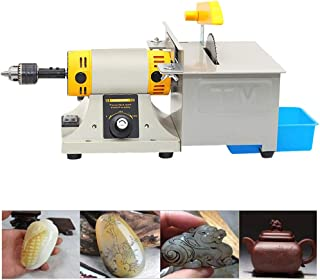 Upgraded Jewelry Polishing Machine,350W Mini Multifunction Rock Polisher Bench, Buffer Bench Lathe Saw Kit for Gem Metal with Grinding Accessories Kit 110V(DHL,4-7 Business Days Delivery)
