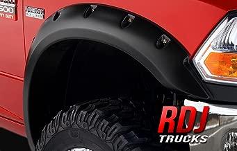 RDJ Trucks PRO-Offroad Bolt-On Style Fender Flares - Fits Dodge Ram 2500/3500 2010-2018 - Set of 4 - Smooth Paintable OE Black Finish