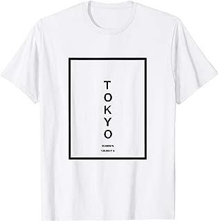 Tokyo City Coordinates Typography Minimalist T-Shirt