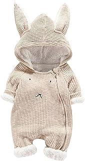 الرضع الشتاء الدافئة بذلة طفل رضيع فتاة مقنع 3d الأذن رومبير الملابس زي عيد الميلاد (Color : KH, Size : 80)