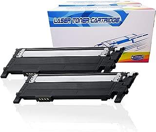 Inktoneram Compatible Toner Cartridges Replacement for Samsung CLP365 CLP-365 406S K406S CLT-K406S Xpress C410W C460FW CLP-360 CLP-365 CLP-365W CLX-3305 CLX-3305FN CLX-3305FW (Black, 2-Pack)