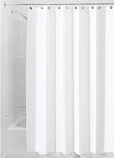 iDesign Fabric Shower Curtain, Modern Mildew-Resistant Bath Liner for Master, Kid's,..