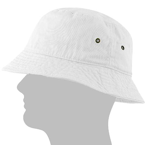 d1a0d7cb23e USBingoshop Men Women Unisex Cotton Plain Color Boonie Safari Fishing Bucket  Hat