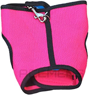 Small Animal Harness Guinea Pig Forret Hamster Rabbit Squirrel Vest Clothes Lead (Large, Hot Pink)