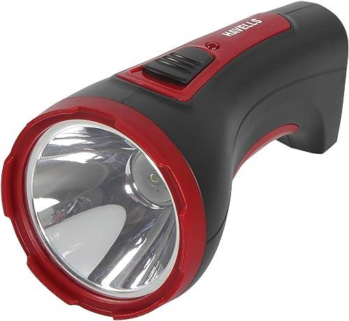 Havells Ranger 10 1 Watt Rechargeable LED Torch Black