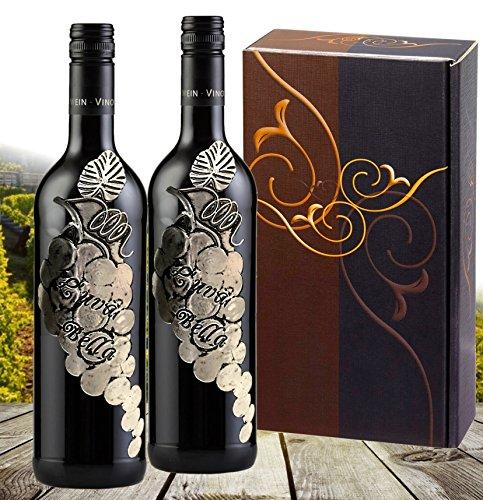 Weingeschenk Geschenkset L'uva Bella Primitivo Sangiovese Merlot 2er Geschenk Set, elegance