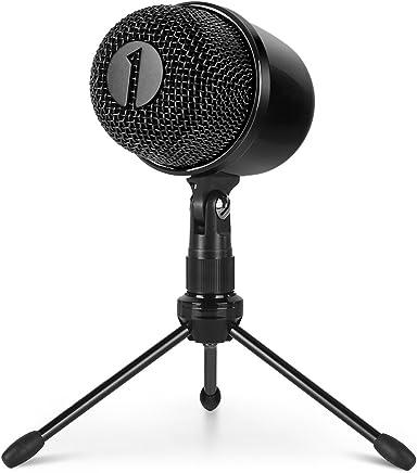 1 BY ONE Microfono USB con Treppiede, Tasto Mute con Luce a LED, Installazione Facile, Microfono Cardioide USB a Condensatore - Trova i prezzi più bassi