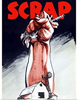 GREATBIGCANVAS Poster Print Vintage World War II Poster of an arm Emerging from a Farm Holding Scrap Metal by John Parrot 12
